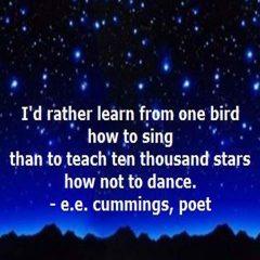 e e cummings on singing