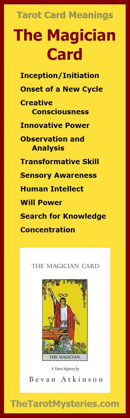 The Magician Card by Bevan Atkinson, part of The Tarot Mysteries