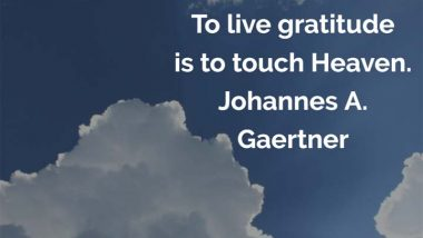 Johannes Gaertner on Gratitude
