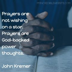 John Kremer on Prayers