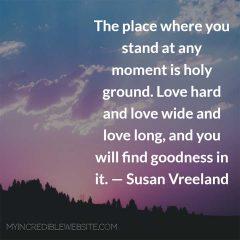 Susan Vreeland on Love