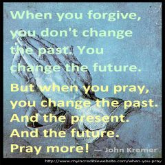 When you pray...
