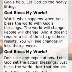 God Bless My World