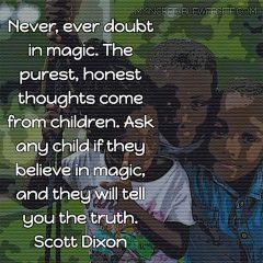 Scott Dixon on children and magic