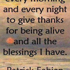 Patrick Fabian on Prayer