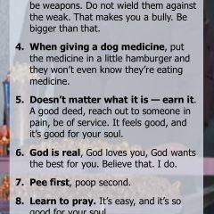 9 Rules for Life from Chris Pratt
