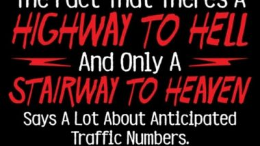 Traffic Numbers to Heaven and Hell