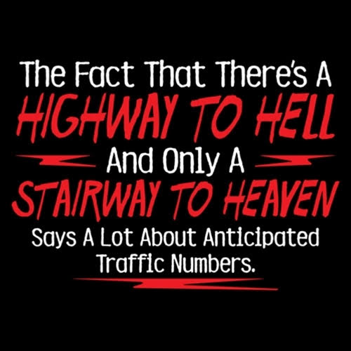 Traffic Numbers to Heaven and Hell: God bless those who are troubled in mind, heart, or spirit.