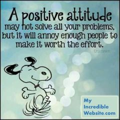 Snoopy on a positive attitude