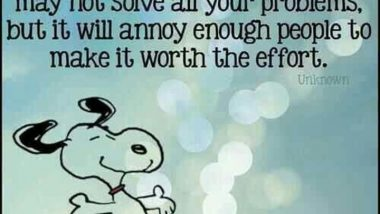 Snoopy on a positive attitude