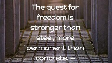 George H.W. Bush on Freedom: