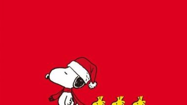 Merry Christmas from Snoopy and Woodstock