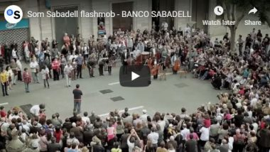 Ode to Joy flash mob organized by Banco Sabadell