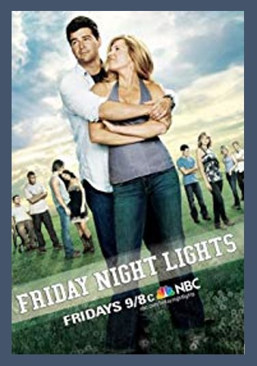 Friday Night Lights TV Show - Do you love Texas, TV series, or television? Then check out these TV shows set in Texas or these television series related to Texas in some other way. I Love Texas!