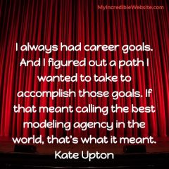 Kate Upton on Career Choices