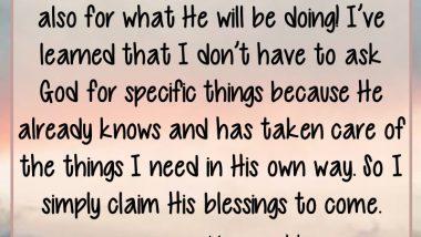 Kim Fields on Morning Prayer