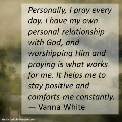 Vanna White on Prayer