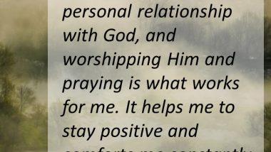 Vanna White on Prayer