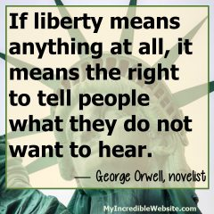 George Orwell on Liberty