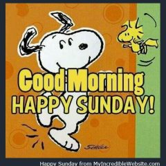 Happy Sunday Snoopy