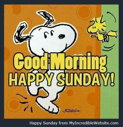 Good Morning! Happy Sunday from Snoopy! Have a great day! #Snoopy #Sunday #HappySunday