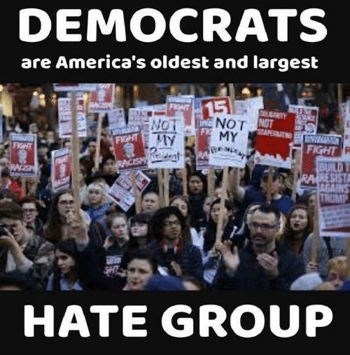 Democrats as largest hate group