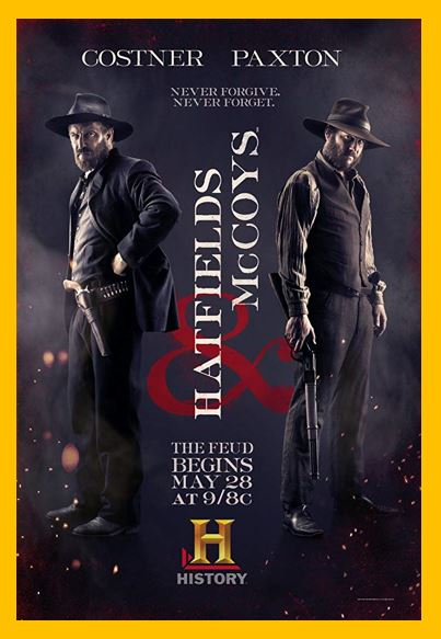 Hatfields & McCoys - Do you love West Virginia, television, or TV series? Then check out these TV shows set in West Virginia or television series related to West Virginia in some other way. I Love West Virginia!