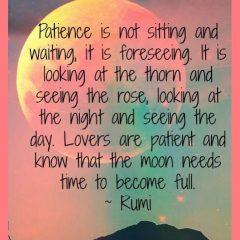 Rumi on Patience