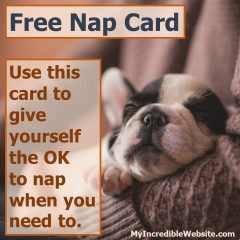 Free Nap Card Puppy