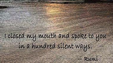 Rumi On Being Silent