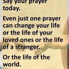 Power of One Prayer
