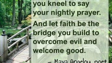 Maya Angelou on Gratitude and Faith