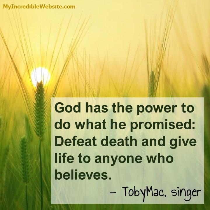 TobyMac on God's Power