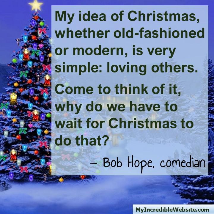 Christmas with Bob Hope