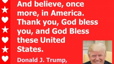 Donald Trump - Believe in America