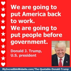 Donald Trump - On Putting America Back to Work