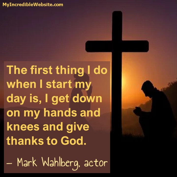 Mark Wahlberg on Prayer