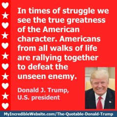 Trump on Times of Struggle