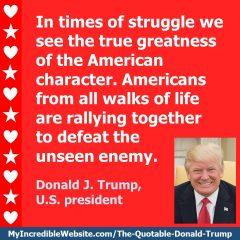 Trump on Times of Struggle