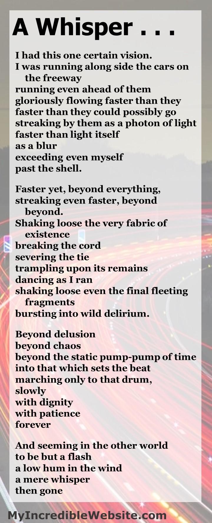 A Whisper a poem by John Kremer