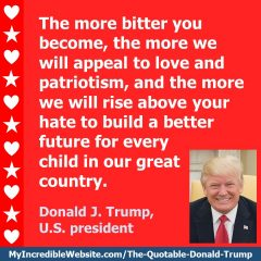 Donald Trump - On Rising Above Hate