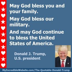 May God Bless the USA - President Donald Trump