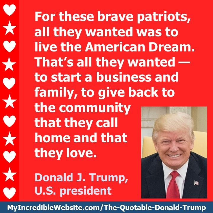 Donald Trump on Living the American Dream