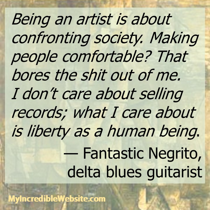 Fantastic Negrito on liberty as a human being