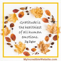 Gratitude is the healthiest of all human emotions. - Zig Ziglar