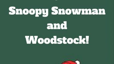 Happy Holidays from Snoopy Snowman