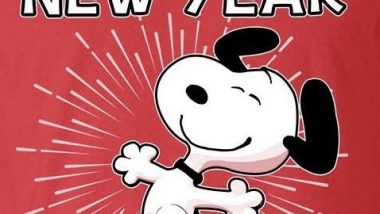 Happy New Year from Snoopy and Woodstock