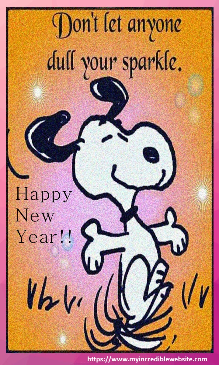 Happy New Year from Snoopy