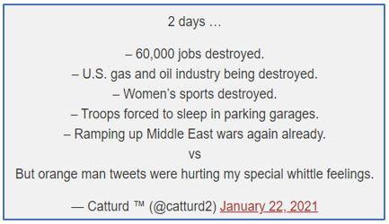 CatTurd tweets Biden's failures