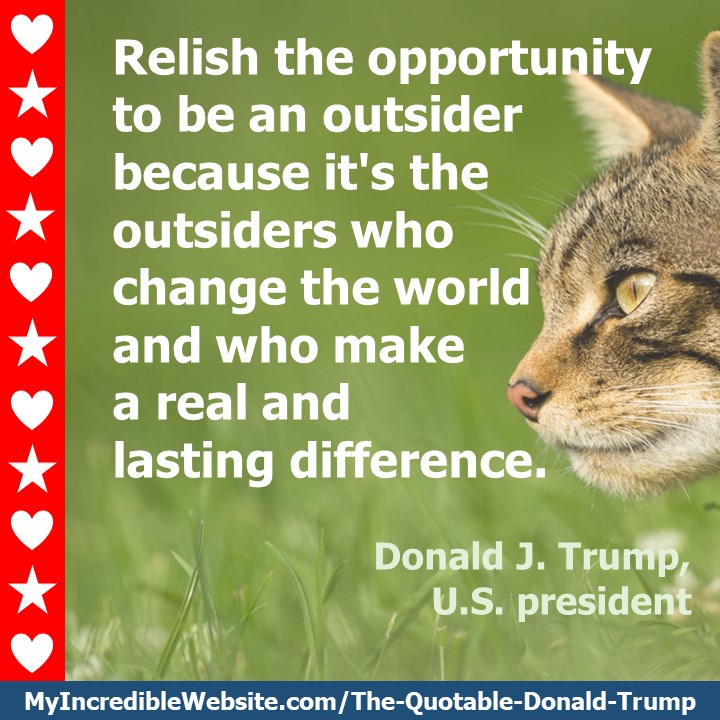 Donald Trump on Being an Outsider